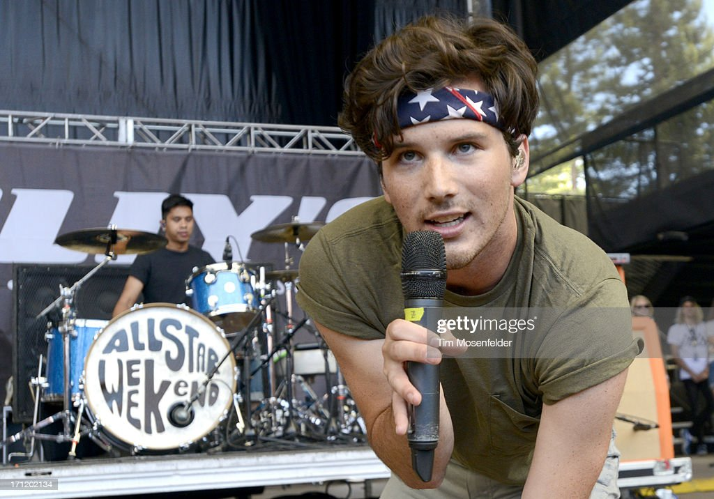 Zachary Porter of Allstar Weekend performs as part of the Vans Warped Tour at Shoreline Amphitheatre on June 22, 2013 in Mountain View, California.