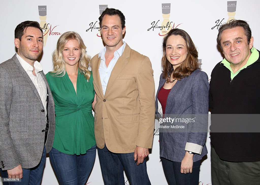 Zachary Prince, Whitney Bashor, Matt Bogart, Lianne Marie Dobbs and Michael McCormick during the 'Himself and Nora The Musical' - Press Preview at the Signature Theatre Rehearsal Studios on May 5, 2016 in New York City.
