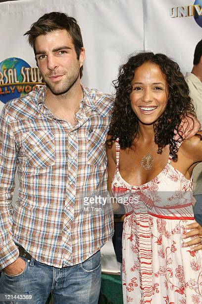Zachary Quinto and Dania Ramirez during 'Evan Almighty' World Premiere Presented by Universal Pictures at Universal Citywalk in Universal City...