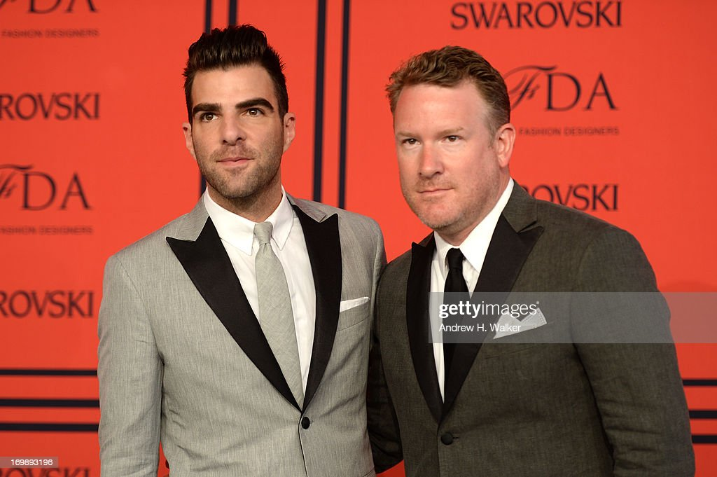 Zachary Quinto (L) and Designer Todd Snyder attend 2013 CFDA Fashion Awards at Alice Tully Hall on June 3, 2013 in New York City.