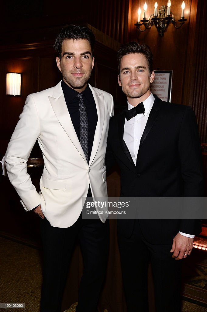 <a gi-track='captionPersonalityLinkClicked' href=/galleries/search?phrase=Zachary+Quinto&family=editorial&specificpeople=715956 ng-click='$event.stopPropagation()'>Zachary Quinto</a> and <a gi-track='captionPersonalityLinkClicked' href=/galleries/search?phrase=Matt+Bomer&family=editorial&specificpeople=2960058 ng-click='$event.stopPropagation()'>Matt Bomer</a> attend the amfAR Inspiration Gala New York 2014 at The Plaza Hotel on June 10, 2014 in New York City.