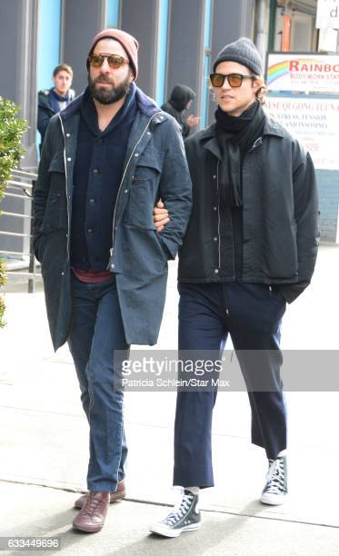 Zachary Quinto and Mile McMillan are seen on February 1 2017 in New York City