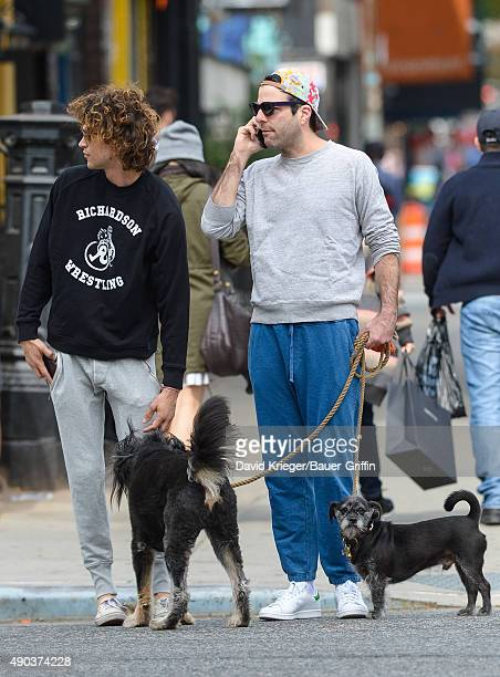 Zachary Quinto and Miles McMillan are seen on September 27 2015 in New York City