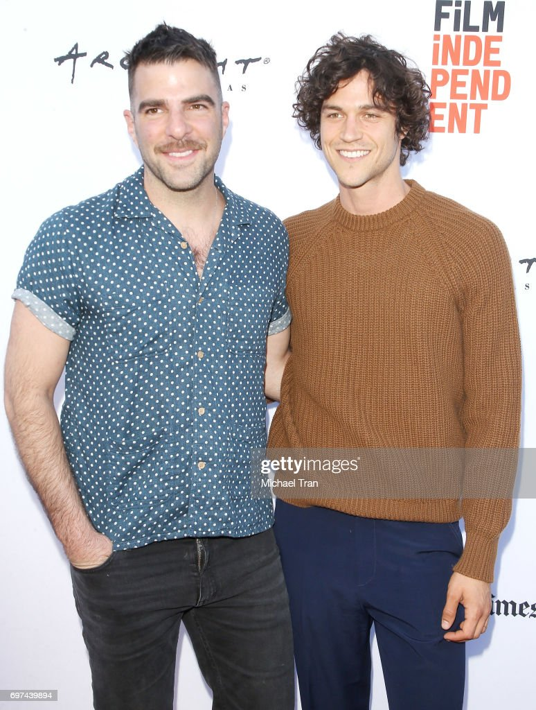 Zachary Quinto and Miles McMillan attend the 2017 Los Angeles Film Festival - premiere of 'Never Here' held at Arclight Cinemas Culver City on June 18, 2017 in Culver City, California.