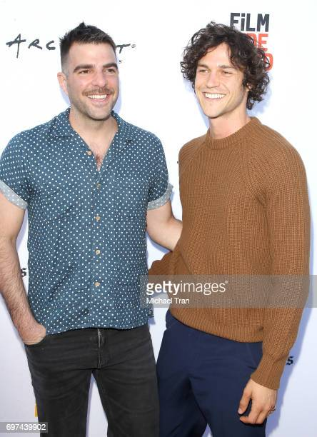 Zachary Quinto and Miles McMillan attend the 2017 Los Angeles Film Festival premiere of 'Never Here' held at Arclight Cinemas Culver City on June 18...