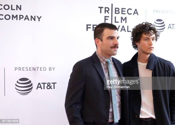 Zachary Quinto and Miles McMillan attend the 2017 Tribeca Film Festival 'Aardvark' at SVA Theatre on April 21 2017 in New York City