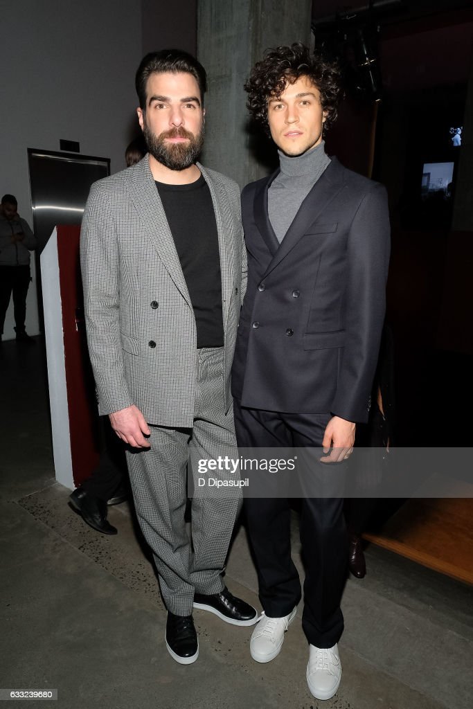 Zachary Quinto (L) and Miles McMillan attend the Boss after party during