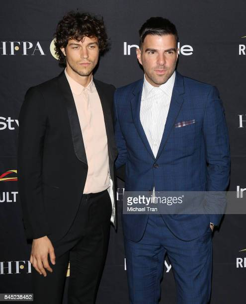 Zachary Quinto and Miles McMillan attend the HFPA InStyle Annual Celebration of 2017 Toronto International Film Festival held at Windsor Arms Hotel...
