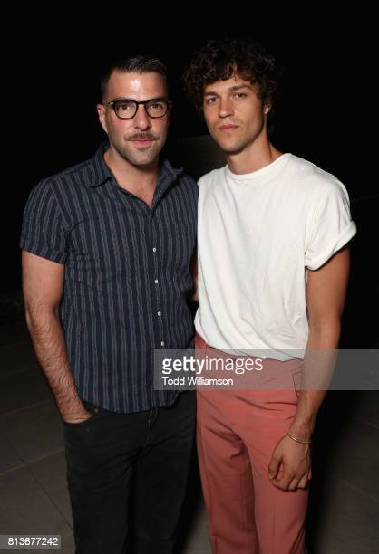 Zachary Quinto and Miles McMillan attend the Los Angeles premiere of 'LANDLINE' at ArcLight Hollywood Cinemas on July 12 2017 in Los Angeles...
