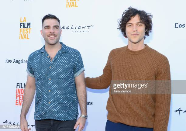 Zachary Quinto and Miles McMillan attend the premieres of 'Never Here' and 'Laps' during 2017 Los Angeles Film Festival at Arclight Cinemas Culver...