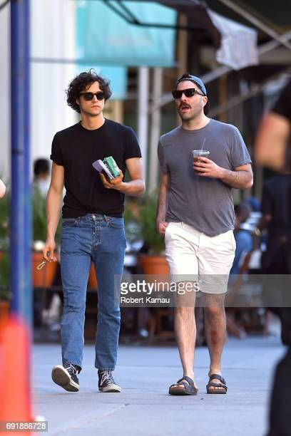 Zachary Quinto and Miles McMillan seen out in Manhattan on June 3 2017 in New York City