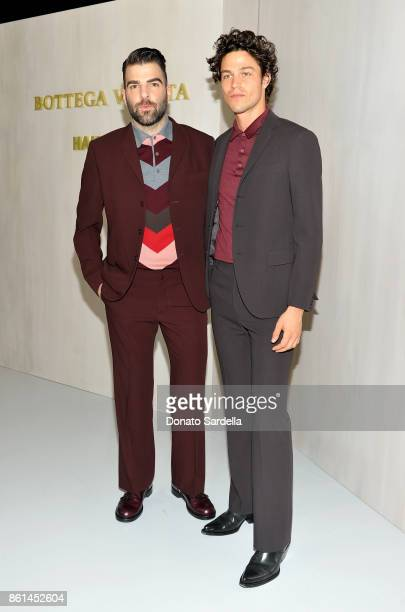 Zachary Quinto and Miles McMillan wearing Bottega Veneta at the Hammer Museum 15th Annual Gala in the Garden with Generous Support from Bottega...
