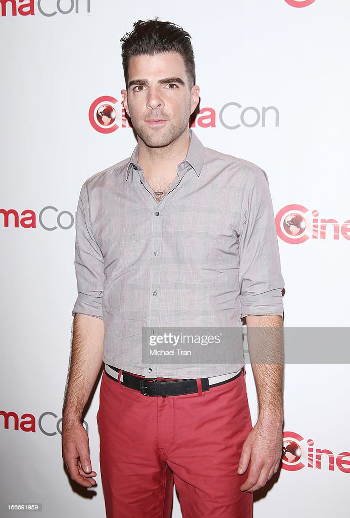 Zachary Quinto arrives at a Paramount Pictures presentation to promote upcoming films, held at Caesars Palace during CinemaCon, the official convention of the National Association of Theatre Owners on April 15, 2013 in Las Vegas, Nevada.