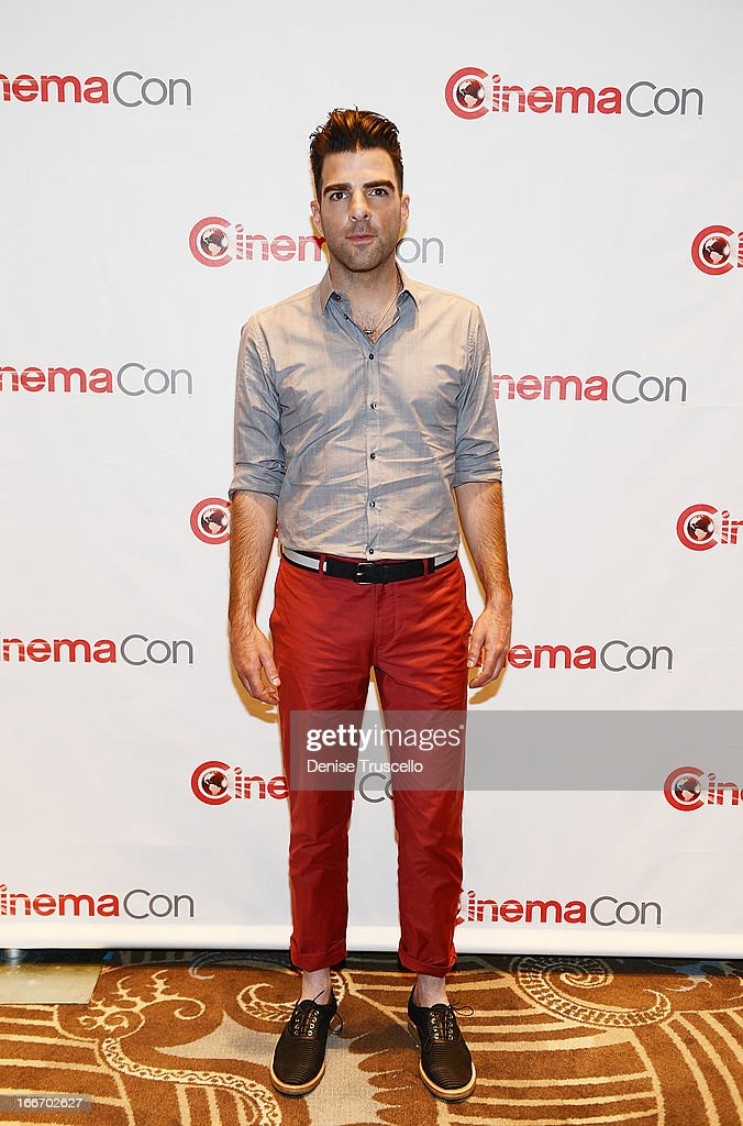 Zachary Quinto arrives at CinemaCon 2013 Paramount opening night party and presentation at Caesars Palace on April 15, 2013 in Las Vegas, Nevada.