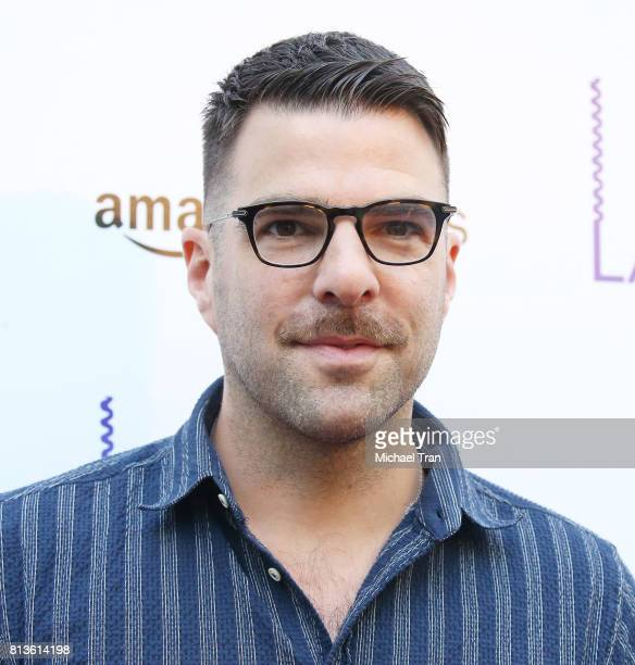 Zachary Quinto arrives at the Los Angeles premiere of Amazon Studios' 'Landline' held at ArcLight Hollywood on July 12 2017 in Hollywood California