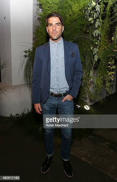 Zachary Quinto attends 2014 High Line spring benefit at Skylight at Moynihan Station on May 20 2014 in New York City