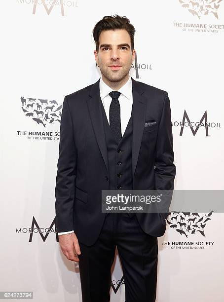 Zachary Quinto attends 2016 Humane Society of the United States to the Rescue New York 'Saving Animal Lives' at Cipriani 42nd Street on November 18...