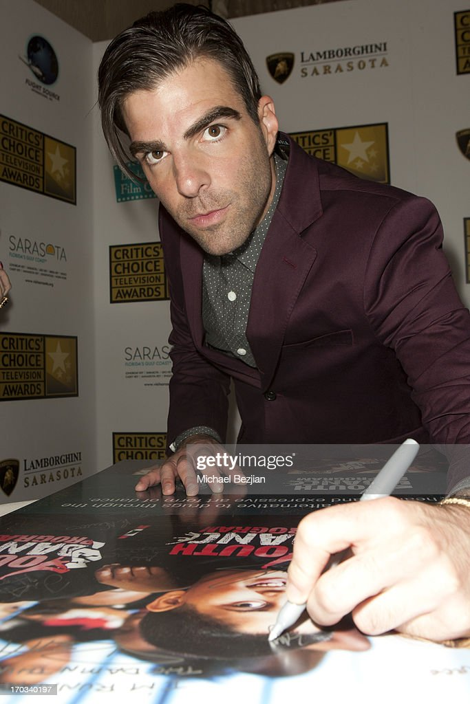 Zachary Quinto attends Critics' Choice Television Awards VIP Lounge on June 10, 2013 in Los Angeles, California.