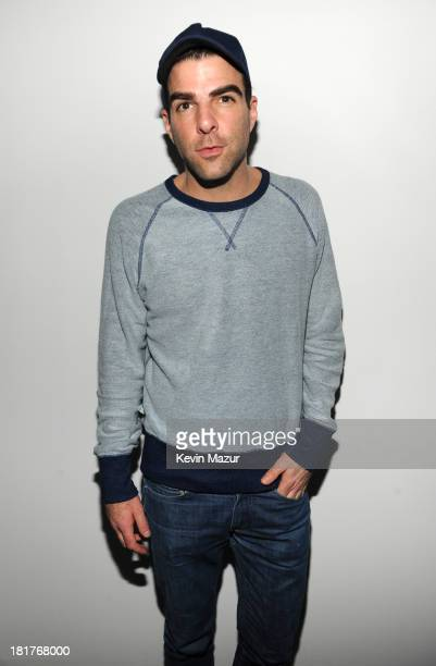 Zachary Quinto attends Madonna and Steven Klein secretprojectrevolution at the Gagosian Gallery on September 24 2013 in New York City