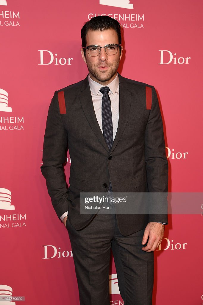 <a gi-track='captionPersonalityLinkClicked' href=/galleries/search?phrase=Zachary+Quinto&family=editorial&specificpeople=715956 ng-click='$event.stopPropagation()'>Zachary Quinto</a> attends the 2015 Guggenheim International Gala Pre-Party made possible by Dior at Solomon R. Guggenheim Museum on November 4, 2015 in New York City.