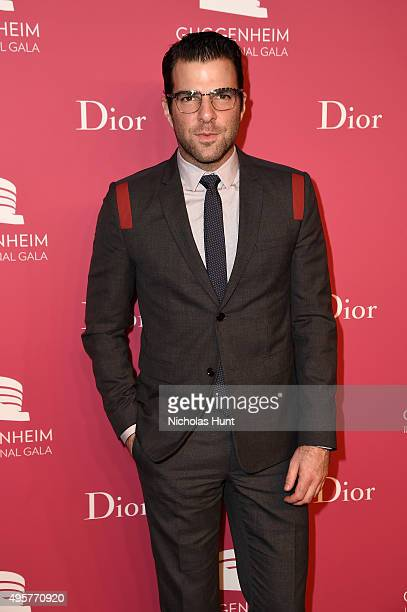 Zachary Quinto attends the 2015 Guggenheim International Gala PreParty made possible by Dior at Solomon R Guggenheim Museum on November 4 2015 in New...