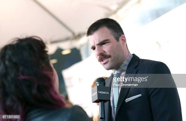 Zachary Quinto attends the 2017 Tribeca Film Festival 'Aardvark' at SVA Theatre on April 21 2017 in New York City