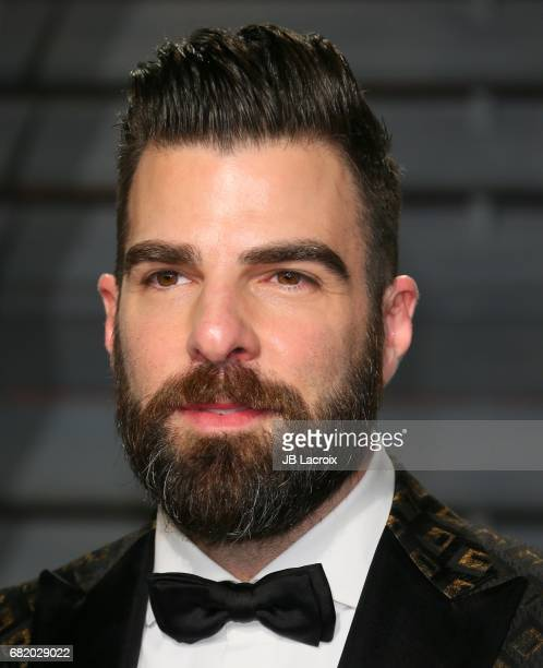 Zachary Quinto attends the 2017 Vanity Fair Oscar Party hosted by Graydon Carter at Wallis Annenberg Center for the Performing Arts on February 26...