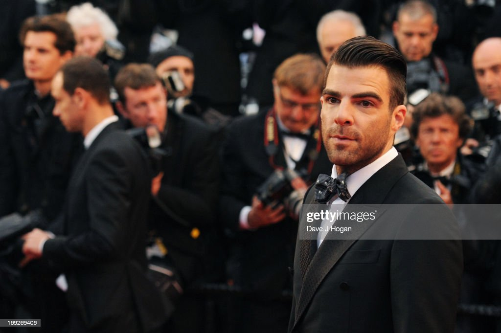 <a gi-track='captionPersonalityLinkClicked' href=/galleries/search?phrase=Zachary+Quinto&family=editorial&specificpeople=715956 ng-click='$event.stopPropagation()'>Zachary Quinto</a> attends the 'All Is Lost' Premiere during the 66th Annual Cannes Film Festival at Palais des Festivals on May 22, 2013 in Cannes, France.