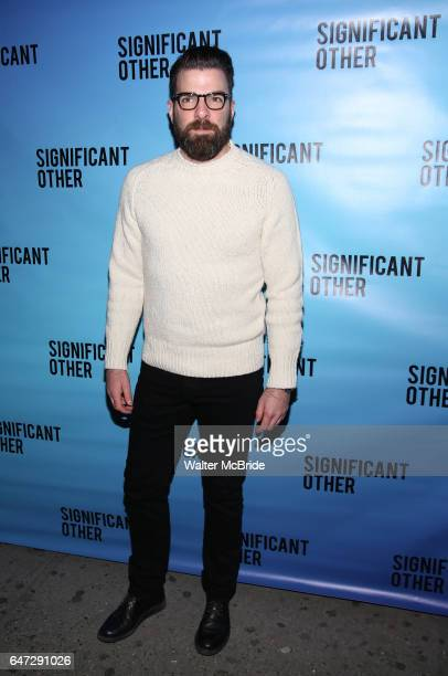 Zachary Quinto attends the Broadway Opening Night performance for 'Significant Other' at the Booth Theatre on March 2 2017 in New York City