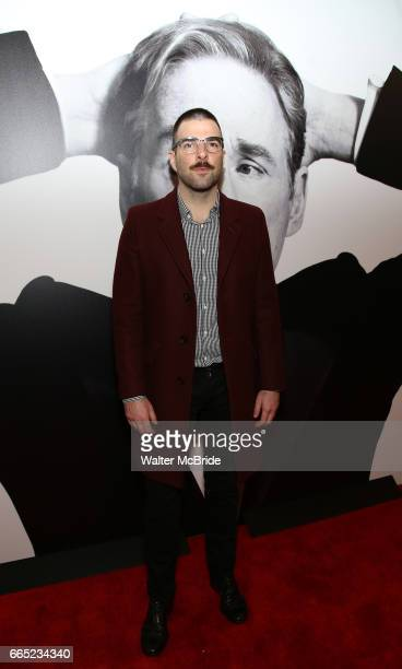 Zachary Quinto attends the Broadway Opening Night Performance of 'Present Laughter' at St James Theatreon April 5 2017 in New York City