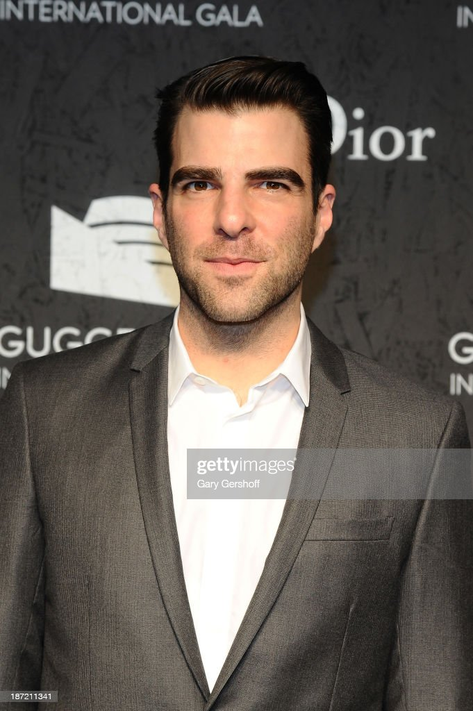 <a gi-track='captionPersonalityLinkClicked' href=/galleries/search?phrase=Zachary+Quinto&family=editorial&specificpeople=715956 ng-click='$event.stopPropagation()'>Zachary Quinto</a> attends the Guggenheim International Gala, made possible by Dior, Pre-party hosted by The Young Collector's Council at Guggenheim Museum on November 6, 2013 in New York City.