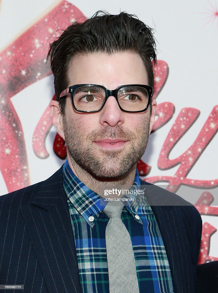 <a gi-track='captionPersonalityLinkClicked' href=/galleries/search?phrase=Zachary+Quinto&family=editorial&specificpeople=715956 ng-click='$event.stopPropagation()'>Zachary Quinto</a> attends the 'Kinky Boots' Broadway Opening Night at the Al Hirschfeld Theatre on April 4, 2013 in New York City.
