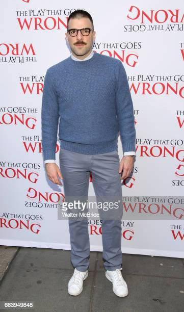 Zachary Quinto attends 'The Play That Goes Wrong' Broadway Opening Night at the Lyceum Theatre on April 2 2017 in New York City