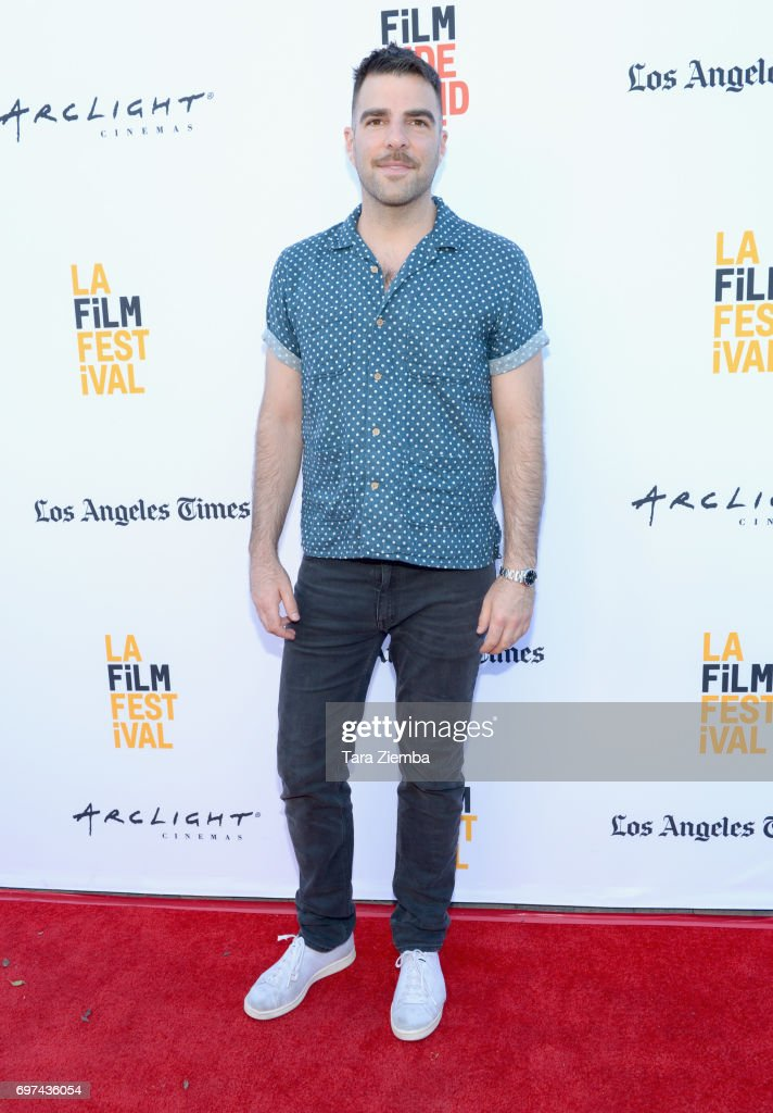 Zachary Quinto attends the premieres of 'Never Here' and 'Laps' during 2017 Los Angeles Film Festival at Arclight Cinemas Culver City on June 18, 2017 in Culver City, California.