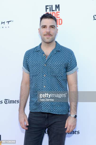 Zachary Quinto attends the premieres of 'Never Here' and 'Laps' during 2017 Los Angeles Film Festival at Arclight Cinemas Culver City on June 18 2017...