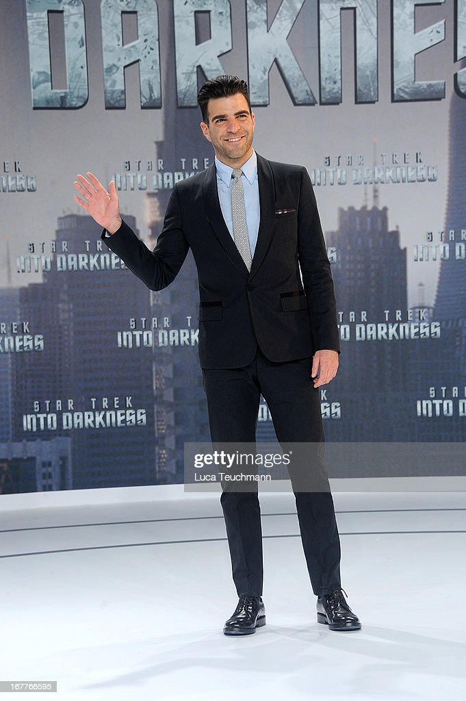 Zachary Quinto attends the 'Star Trek Into Darkness' German Premiere at CineStar on April 29, 2013 in Berlin, Germany.