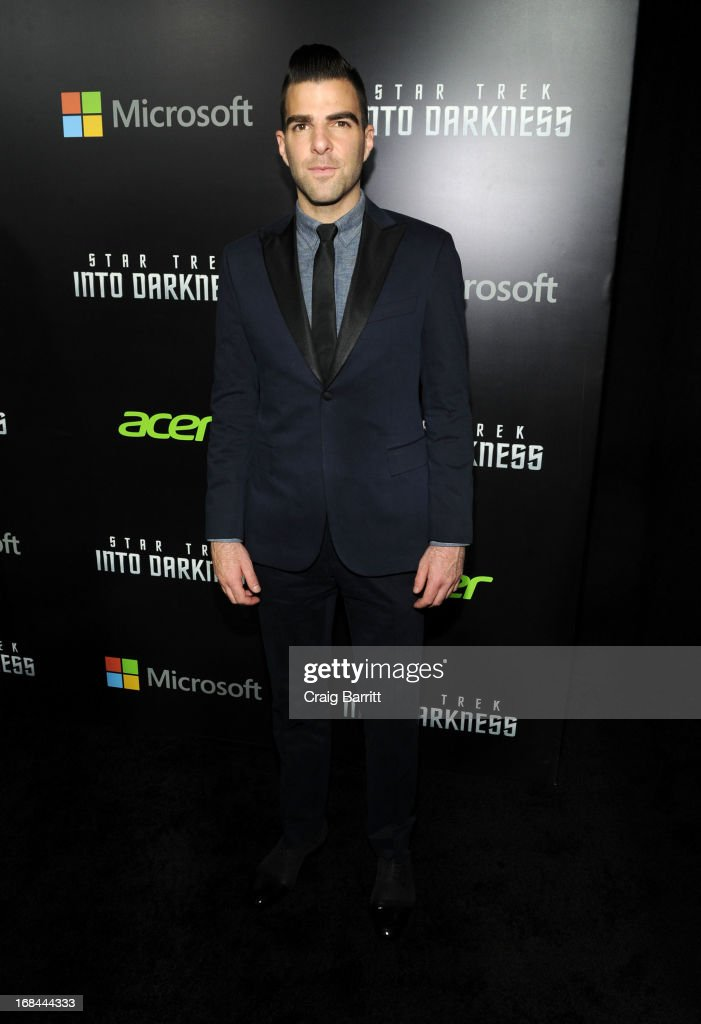 Zachary Quinto attends the 'Star Trek Into Darkness' New York Special Screening at AMC Loews Lincoln Square on May 9, 2013 in New York City.