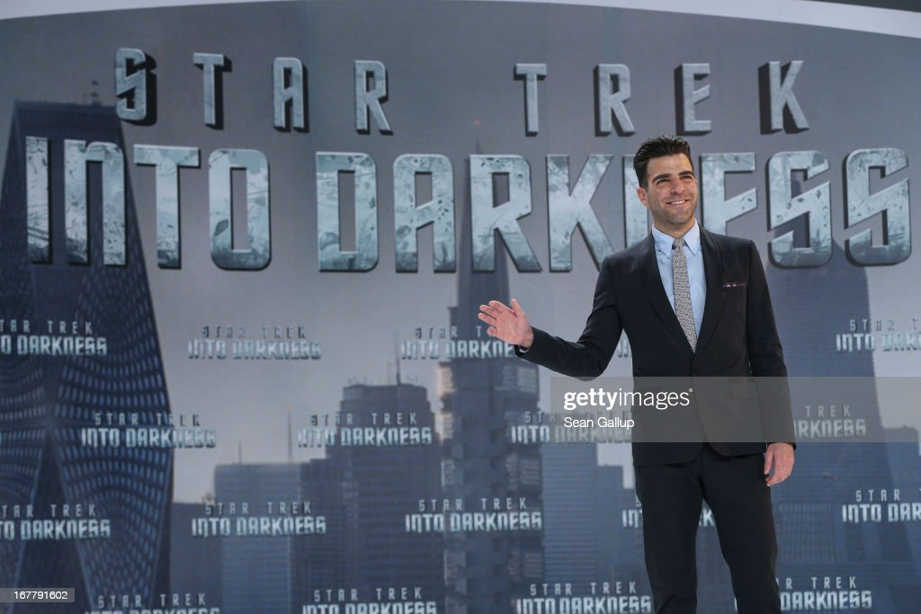 Zachary Quinto attends the 'Star Trek Into Darkness' Premiere at CineStar on April 29, 2013 in Berlin, Germany.