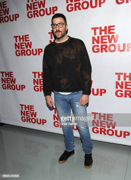 Zachary Quinto attends the 'The Whirligig' OffBroadway Opening Night at Social Drink and Food Club Terrace on May 21 2017 in New York City