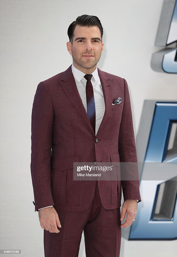 Zachary Quinto attends the UK Premiere of 'Star Trek Beyond' at Empire Leicester Square on July 12 2016 in London England