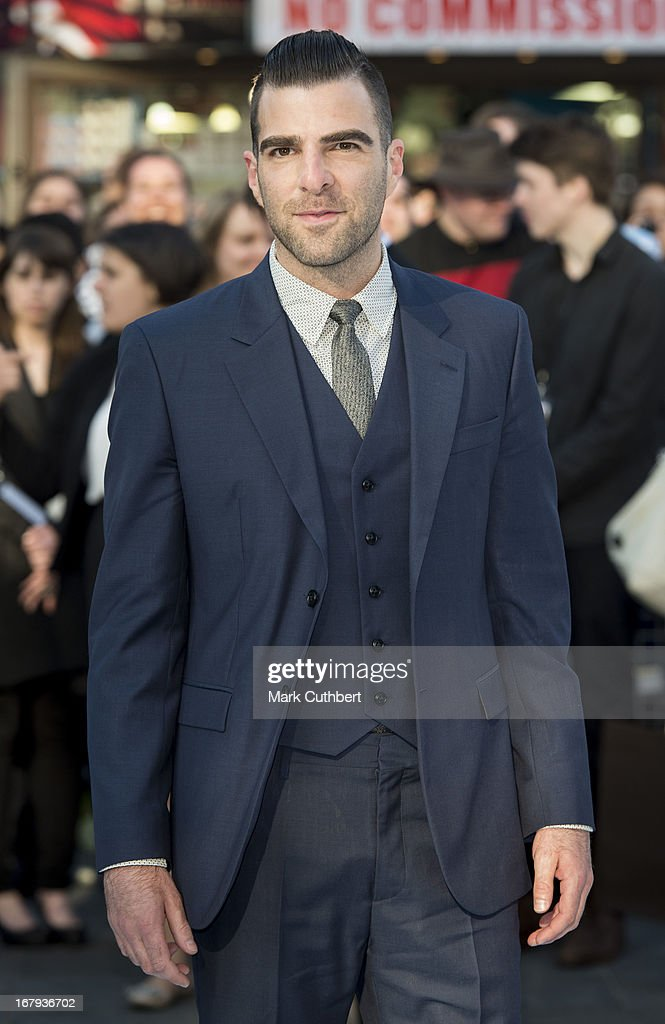<a gi-track='captionPersonalityLinkClicked' href=/galleries/search?phrase=Zachary+Quinto&family=editorial&specificpeople=715956 ng-click='$event.stopPropagation()'>Zachary Quinto</a> attends the UK Premiere of 'Star Trek Into Darkness' at The Empire Cinema on May 2, 2013 in London, England.