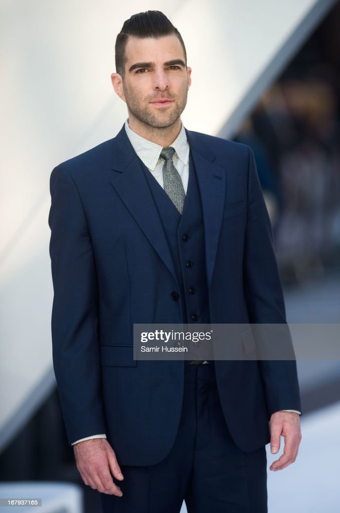 Zachary Quinto attends the UK Premiere of 'Star Trek Into Darkness' at The Empire Cinema on May 2, 2013 in London, England.