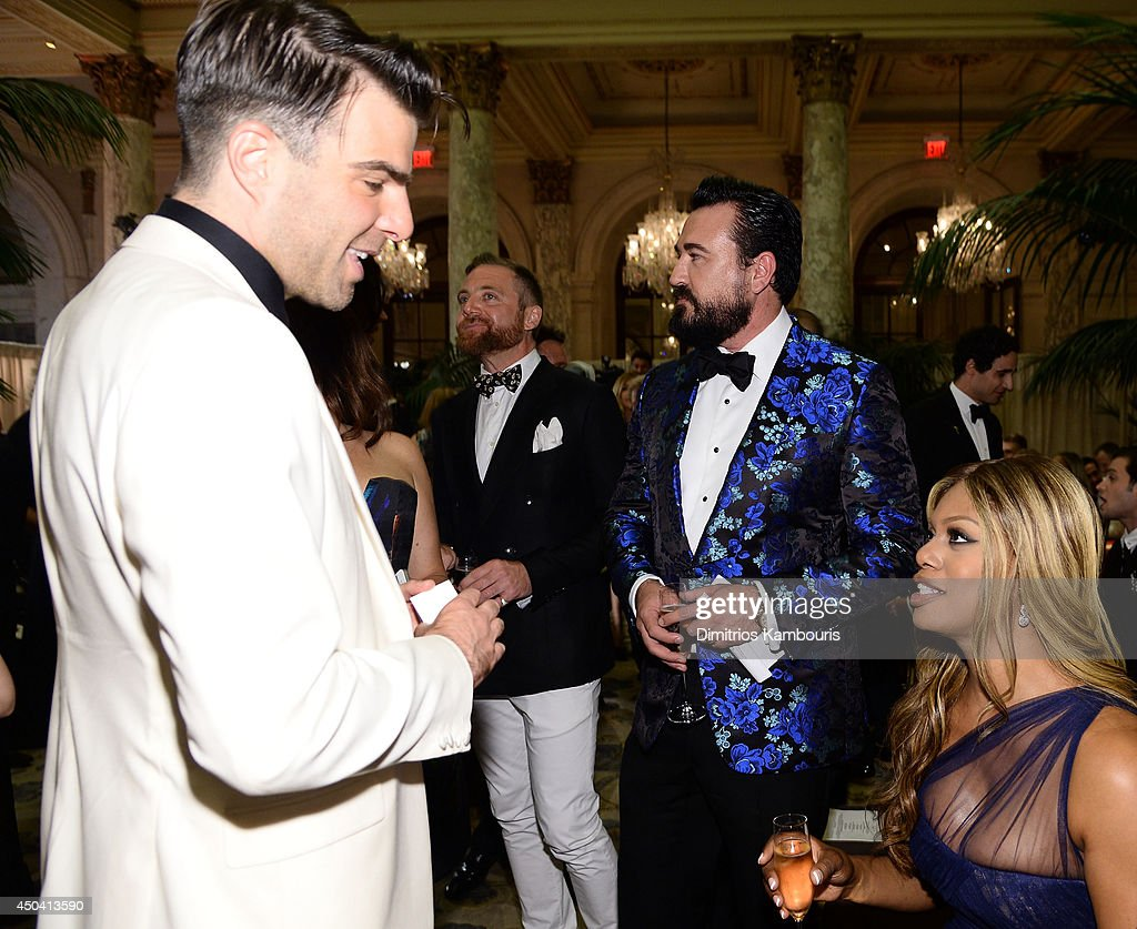 <a gi-track='captionPersonalityLinkClicked' href=/galleries/search?phrase=Zachary+Quinto&family=editorial&specificpeople=715956 ng-click='$event.stopPropagation()'>Zachary Quinto</a>, Donal Brophy, <a gi-track='captionPersonalityLinkClicked' href=/galleries/search?phrase=Chris+Salgardo&family=editorial&specificpeople=5384803 ng-click='$event.stopPropagation()'>Chris Salgardo</a>, and <a gi-track='captionPersonalityLinkClicked' href=/galleries/search?phrase=Laverne+Cox&family=editorial&specificpeople=5848606 ng-click='$event.stopPropagation()'>Laverne Cox</a> attend the amfAR Inspiration Gala New York 2014 at The Plaza Hotel on June 10, 2014 in New York City.