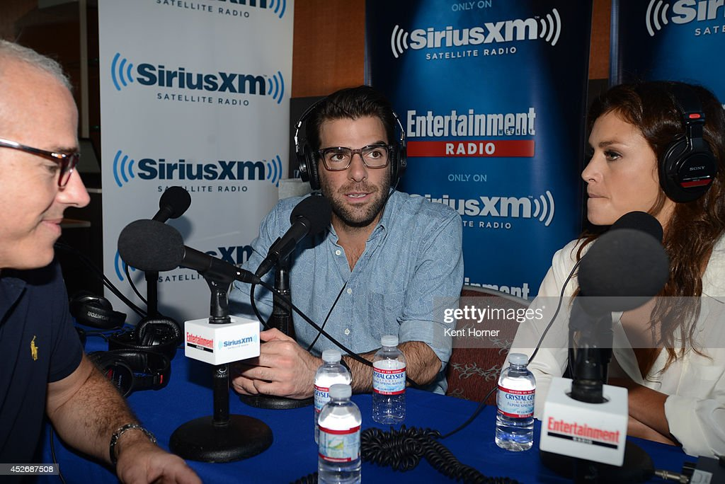 Zachary Quinto is interviewed on SiriusXM's Entertainment Weekly Radio channel from Comic-Con 2014 at The Hard Rock Hotel on July 25, 2014 in San Diego, California.