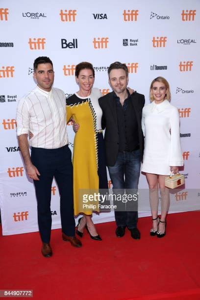 Zachary Quinto Julianne Nicholson Matthew Newton and Emma Roberts attend the 'Who We Are Now' premiere during the 2017 Toronto International Film...