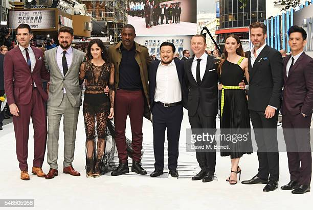 Zachary Quinto Karl Urban Sofia Boutella Idris Elba director Justin Lin Simon Pegg Lydia Wilson Chris Pine and John Cho attend the UK premiere of...