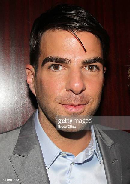 Zachary Quinto poses at the 80th Annual Drama League Awards Ceremony and Luncheon at The Marriot Marquis Times Square on May 16 2014 in New York City