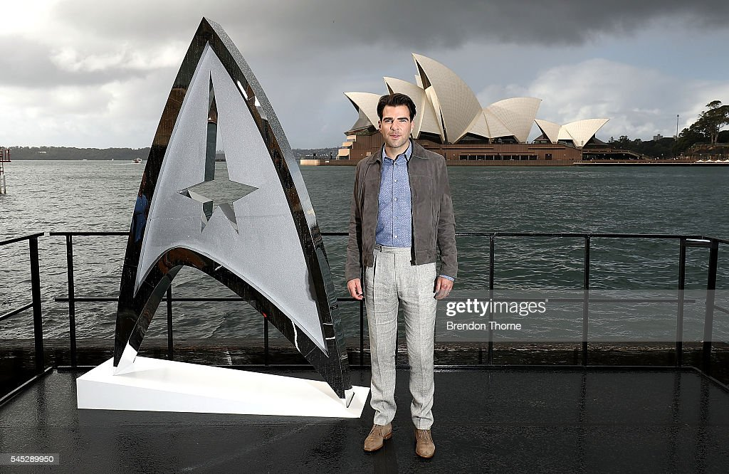 Zachary Quinto poses during a photo call for Star Trek Beyond on July 7, 2016 in Sydney, Australia.