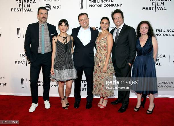 Zachary Quinto Sheila Vand Brian Shoaf Jenny Slate Neal Dodson and Susan Leber attend the 2017 Tribeca Film Festival 'Aardvark' at SVA Theatre on...