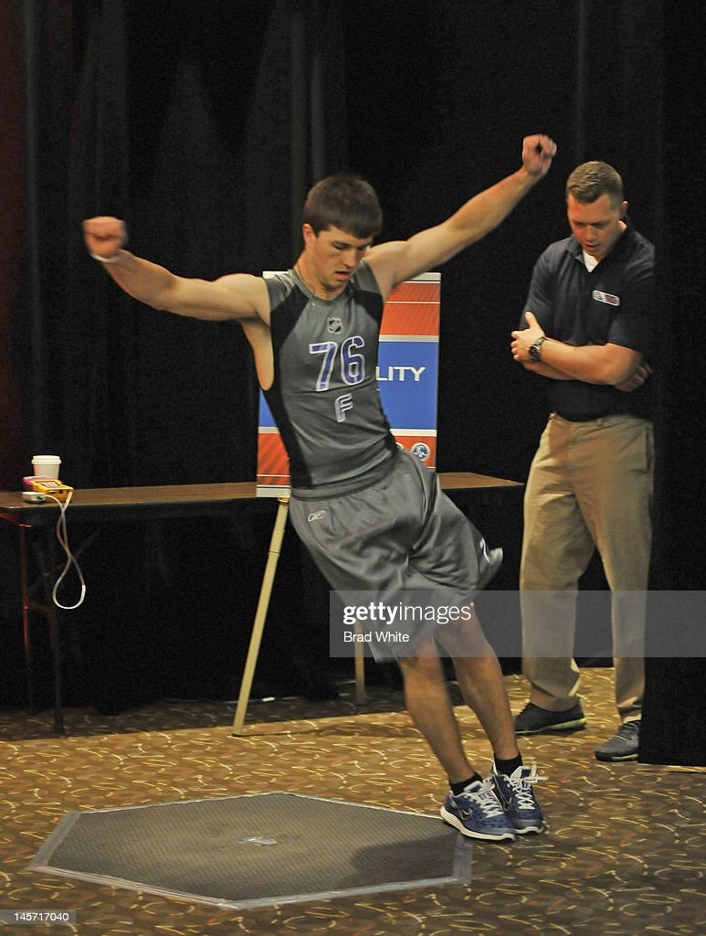 Zachary Stepan #76 takes part in the 2012 NHL Combine June 1, 2012 at International Centre in Toronto, Ontario, Canada.